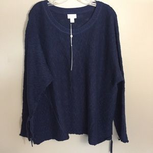 Caslon mix stitch swing sweater navy size L and XL